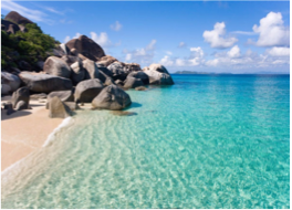 SPRING BAY BEACH (VIRGIN GORDA)   Crystalline waters and picturesque boulders compose the beauty of this lovely 5.5 acres National Park, which provides great swimming and snorkelling conditions, as well as being a family-friendly spot with its picnic tables, recreational ground, and natural pool known as the Crawl.