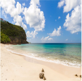"KATOUCHE BAY   You'll find this tiny beach is at the bottom of Anguilla's only ""rain forest; if you're...  More"