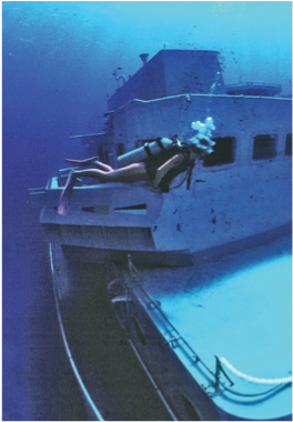 CAPTAIN KEITH TIBBETTS   Located off Cayman Brac's northwest coast, this 330 feet-long Russian-built Cuban naval frigate was sunk in September 1996 and is now home to an abundant variety of marine life.