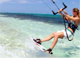 KITESURFING   Make the most of the Cayman Islands' great Trade Winds by taking a lesson or renting a kite surf through the various operators located on each island, such as Kite Cayman, Lostboys Kitesurfing, or The Kite House.