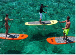PADDLEBOARDING    Also known as SUP'ing, you will mostly find this fun yet challenging activity on Grand Cayman Island.