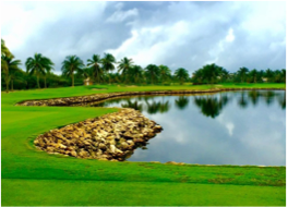 BLUE TIP GOLF COURSE    Located at the Ritz-Carlton on Grand Cayman this challenging 9-hole course designed by Greg Norman features 8 holes on the water, and is open to guests and residents of the prestigious hotel. Onsite facilities include club rentals and lessons.