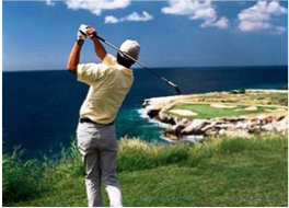 BLUE BAY GOLF   A stunning, surprising and challenging 18 holes par 72 professional golf course set over 6 kilometres of dramatic coastal landscape, and opened to non-members. On site facilities include driving range, lessons and clinics at the blue Bay Golf Academy, a pro-shop, clubhouse, and regular tournaments and events.