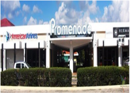 PROMENADE SHOPPING CENTRE   Located in Willemstad, this open-air shopping centre offers international brands stores selling items of clothing for men, women and children, as well as shoes, jewellery, lingerie, beachwear and watches.