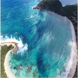 HALF MOON BAY BEACH   On the South East of Antigua, around a 5 minute drive from Freetown village...  More