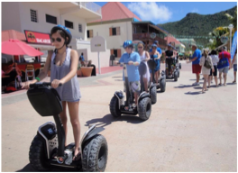 SEGWAY TOUR    With tours ranging from a short 30 minute-ride to a full day excursion, you'll find a few companies on the island offering an fun alternative to the usual walk around town.