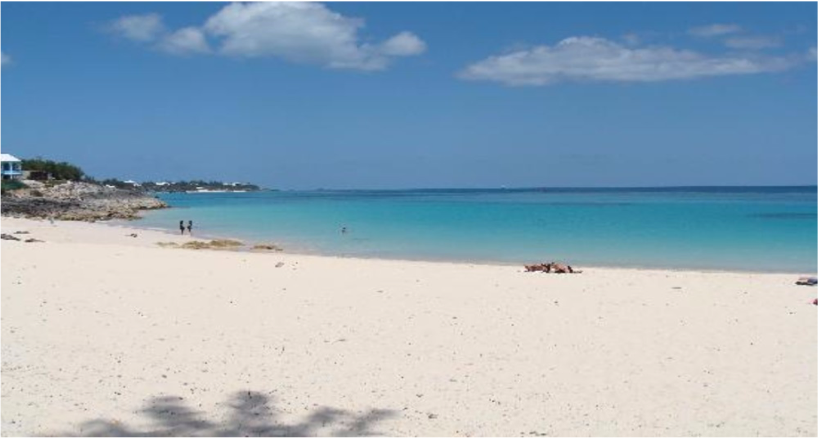 JOHN SMITH'S BAY   Located on South Shore and featuring the area's pale pink sand, this long and...  More