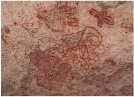 ONIMA INDIAN INSCRIPTIONS   Believed to be the work of the Arawak Indians, and to date back to the 15th century, these red pictographs are found on the northern side of the island, on a 3-foot limestone ledge directed by small sign posts.