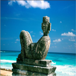 PLAYA CHAC MOOL   Offering a mix of rocky shore to its northern end and perfect sand to the south...  More