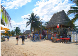 MAHAHUAL   If you're looking for a slightly more peaceful spot, take a four hours drive to the small fishing village of Mahahual which, although rapidly developing, is said to convey the laid-back feeling that busy Playa del Carmen once did.