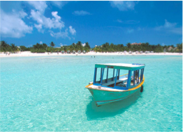 ISLA MUJERES   Home to El Garrafon, this island is popular for its great beaches and colourful snorkelling, and is only a short boat trip away from Cancun.