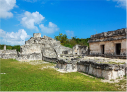 EL REY   Found in Cancun's hotel zone, between the lagoon and the sea, the remains of this site now home to a colony of iguanas still display the bright colours of its original mural painting.