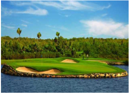 MOON SPA & GOLF CLUB   Developed with an innovative concept of environmental preservation, this Jack Nicklaus Signature Golf Course is a 27-hole set in a natural backdrop with mangroves and abundant wildlife.