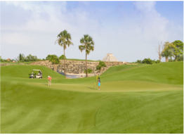 IBEROSTAR PLAYA PARAISO GOLF CLUB   Conceived by world-renowned designer P.B. Dye, this course is located a 30 minute-drive from Cancun, and offer a game with world-class conditions and unique challenges.