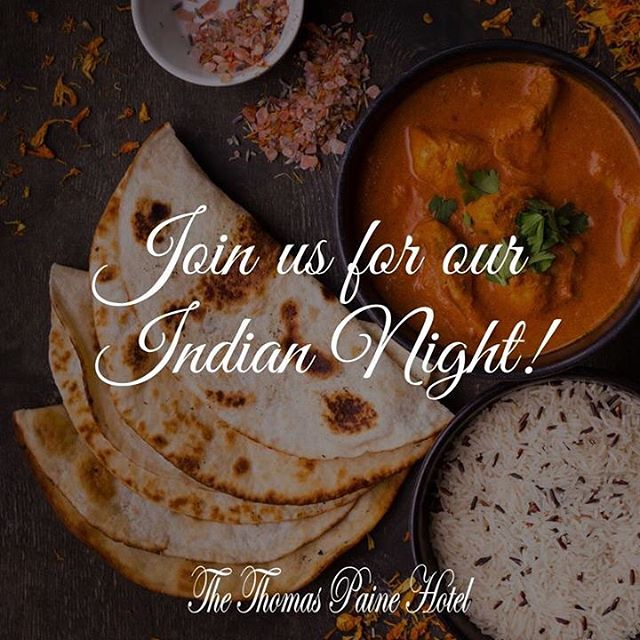 To celebrate The Thomas Paine Hotel's 5th birthday on 2nd June, we're hosting a wonderful Indian themed night! With an all you can eat, home-cooked Indian buffet and Indian music, it's set to be an incredible, memorable night!  Find out more: https://www.thethomaspainehotel.co.uk/events/2018/6/2/thomas-paines-5th-birthday-indian-themed-night