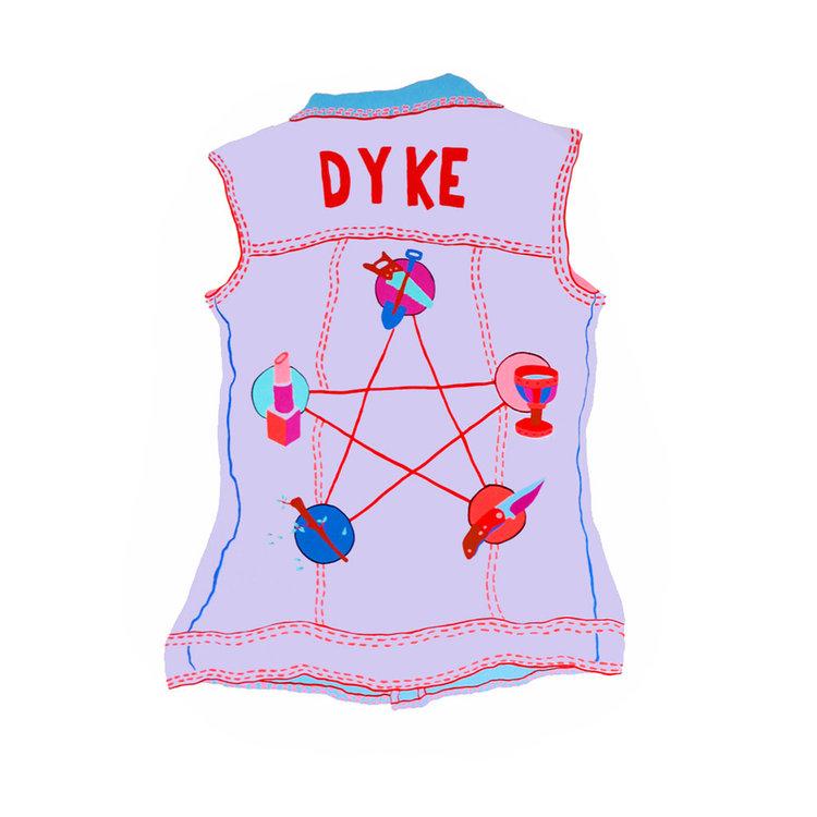 Dyke Vest 22 x 30 in, 2016
