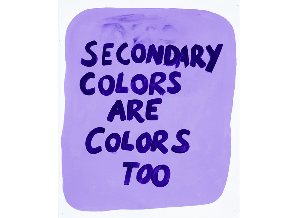 Secondary Colors Are Colors Too