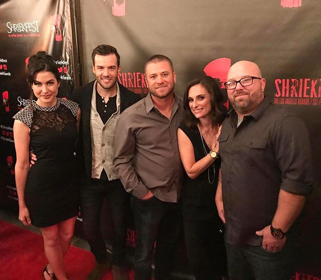 The @mercychristmasmovie writer, director and cast at the @shriekfest opening night, where #MercyChristmas had its Hollywood debut! Mercy Christmas will be released November 28th by @gravitasventures. #HorrorComedy #IndieFilm #ShriekFest