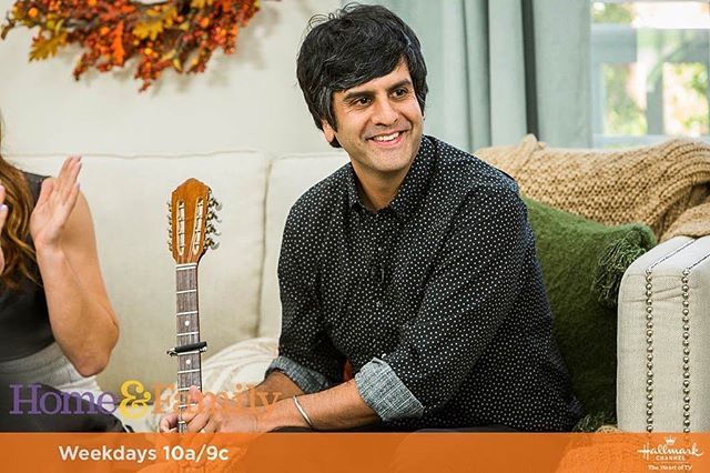 Composer @siddkhoslamusic is on @homeandfamilytv NOW talking music and @nbcthisisus! Tune in on @hallmarkchannel! #Composer #ThisIsUs #HomeAndFamily