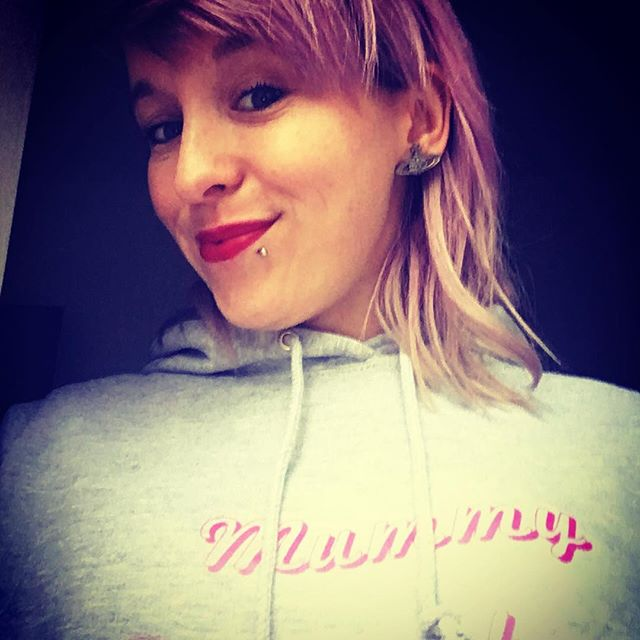 This is my favourite human sporting her new Vivienne earrings and mummy faversham hoodie. Thanks for a magical Christmas bangers! You're the best! Xx #sort #loveher #favouritehuman #fiance #mylove #pinkhair #pinklips #faversham #viviennewestwood #glamourous #bangerz #iwould #ihave #iwillagain #christmas