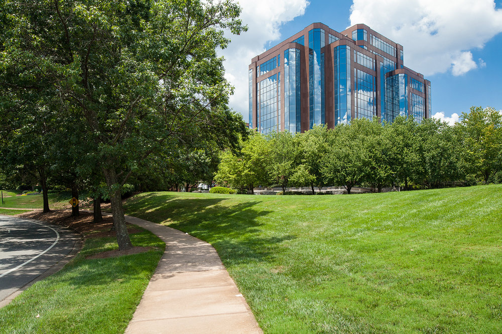 Outdoor walking paths and plentiful green space