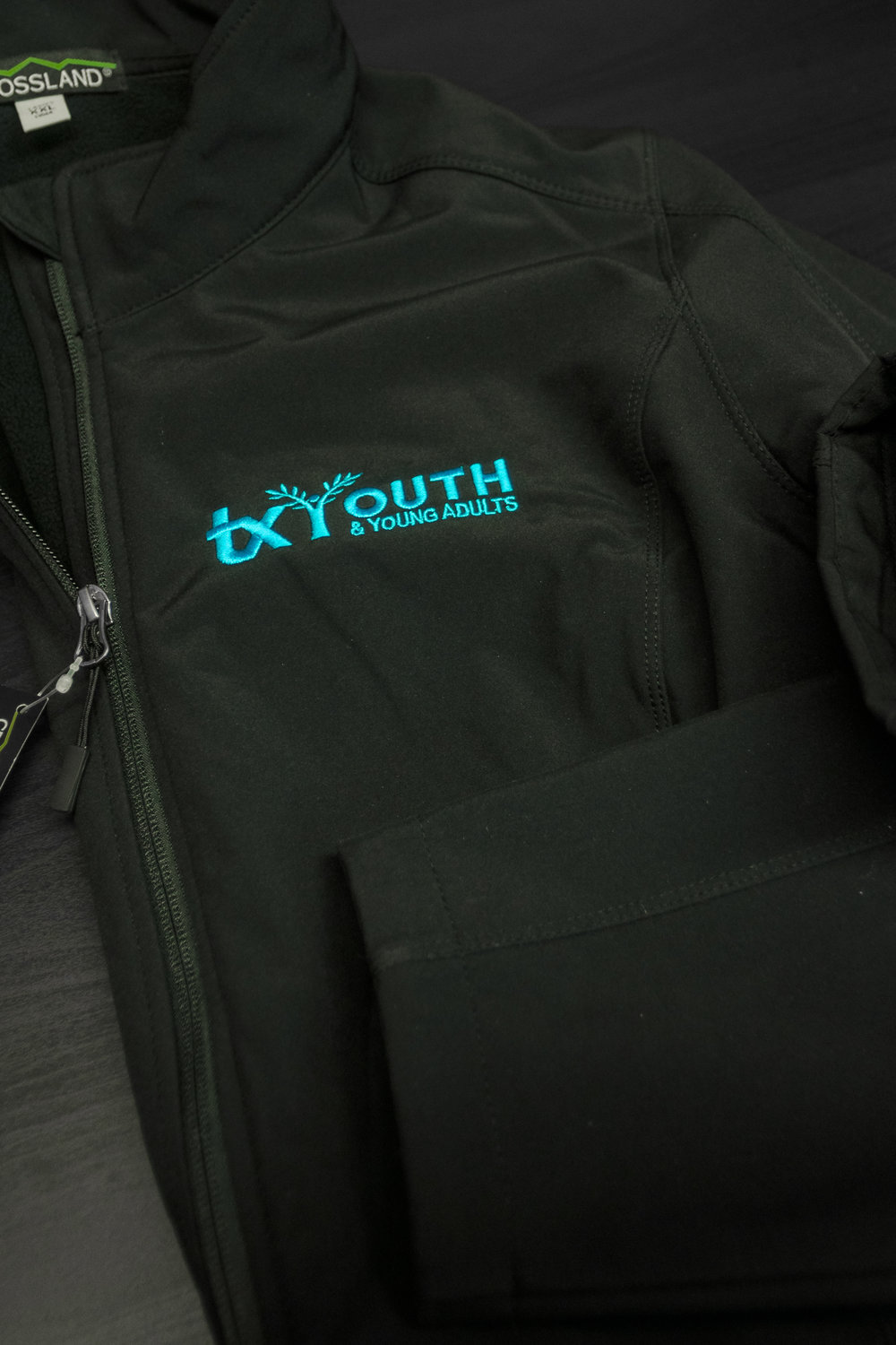 TX YOUTH -  BLUE LOGO JACKET    $45.00
