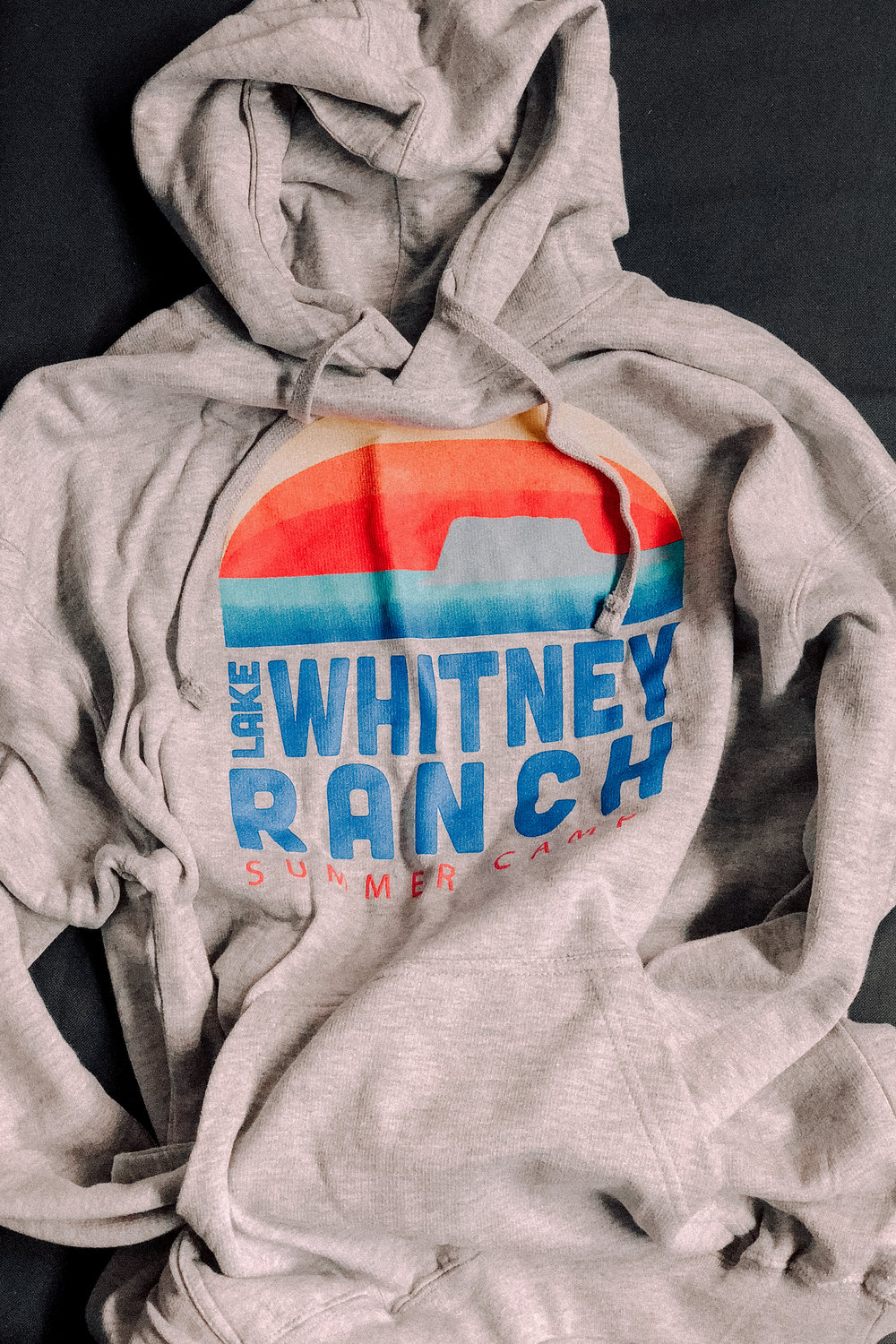 LAKE WHITNEY -  SUNSET HOODIE    $25.00