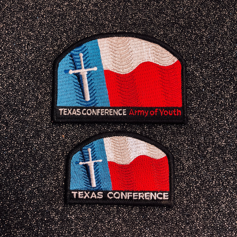 CLUB MINISTRIES -  TEXAS CONFERENCE PATCH    $2.00