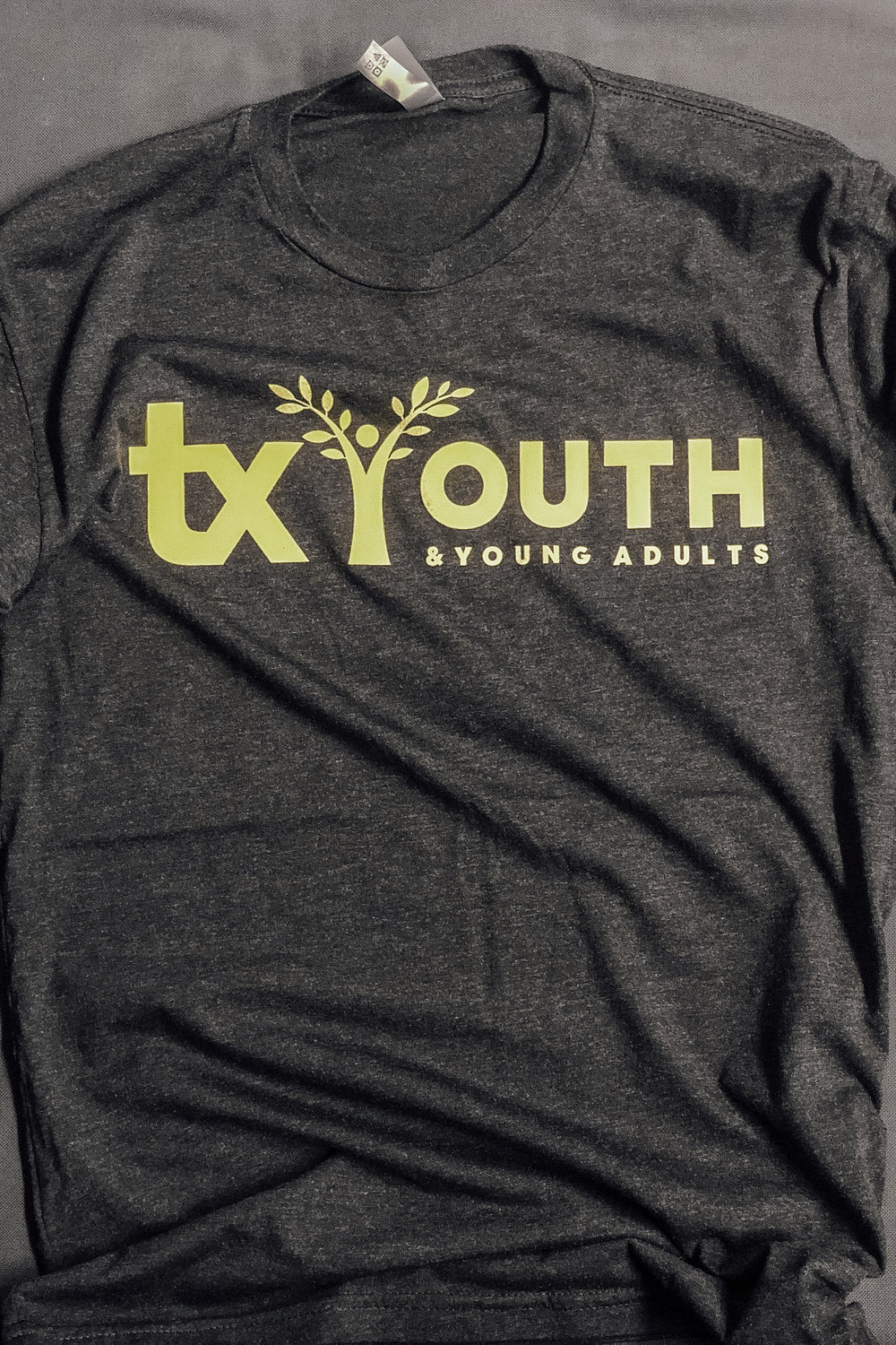 TX YOUTH -  LIME GREEN LOGO    $8.00