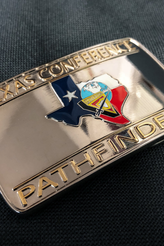 TX PATHFINDERS -  BELT BUCKLE    $5.00