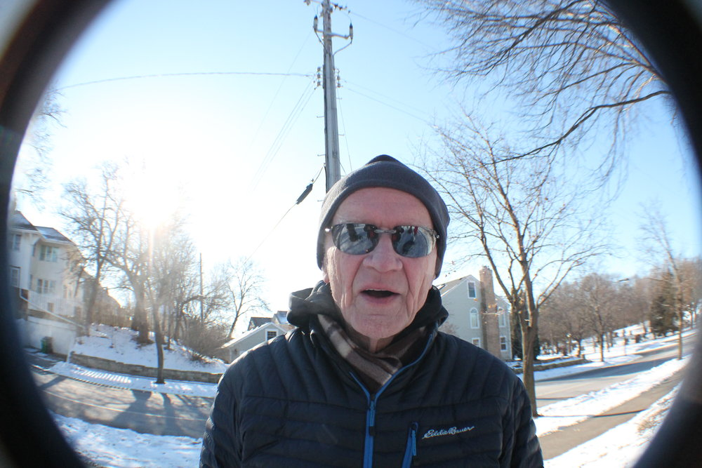 aND mY fAHTER, hAVING fUN WITH THE fISH eYE cAMERA lENS.