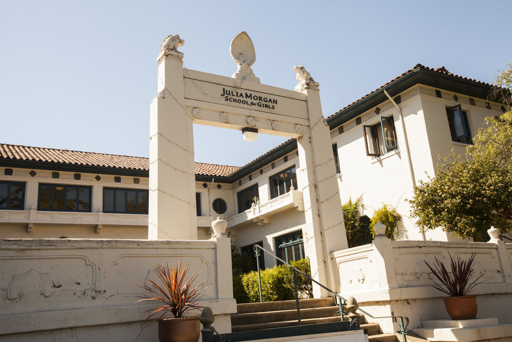 The front of the Julia Morgan School for Girls built in the 20's. We always take into consideration the entire building and environment when designing for a project.