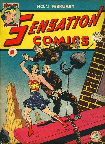 Scanned cover to Sensation Comics #1