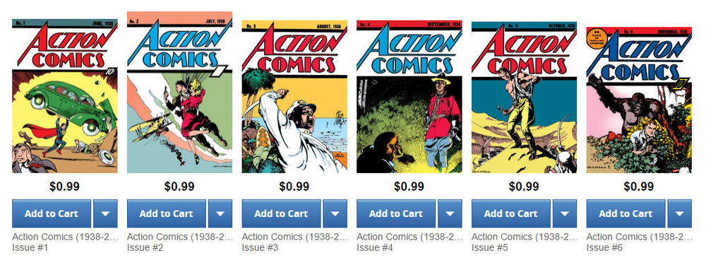 Especially when they're  selling  digitally recolored issues of Action Comics for the same price.
