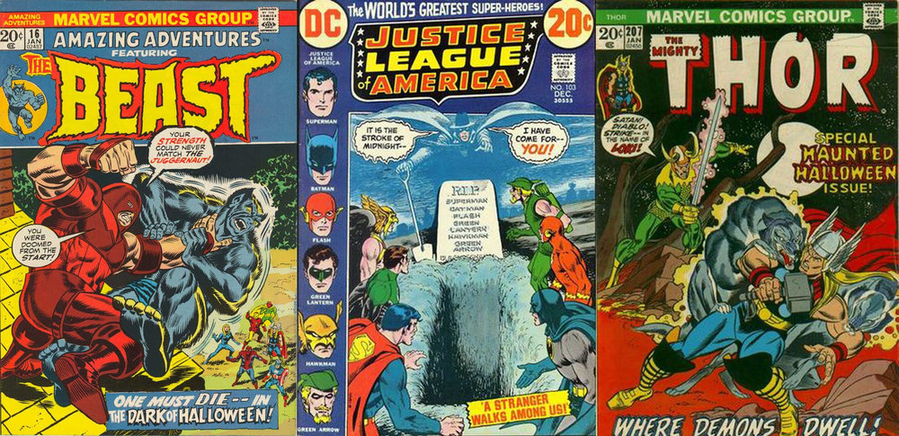 Amazing Adventures #16, Justice League of America #103 & Thor #207, all published in 1972