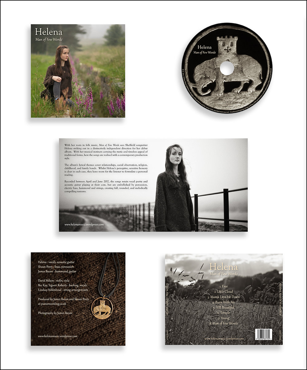 Helena CD design, 4 page booklet