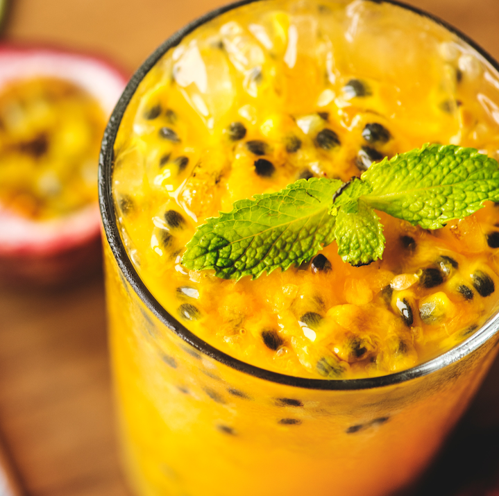 Punta Cana - 3oz Candela2oz Passionfruit Juice1oz Lemon Juice (fresh)Garnish with Mint Leaf