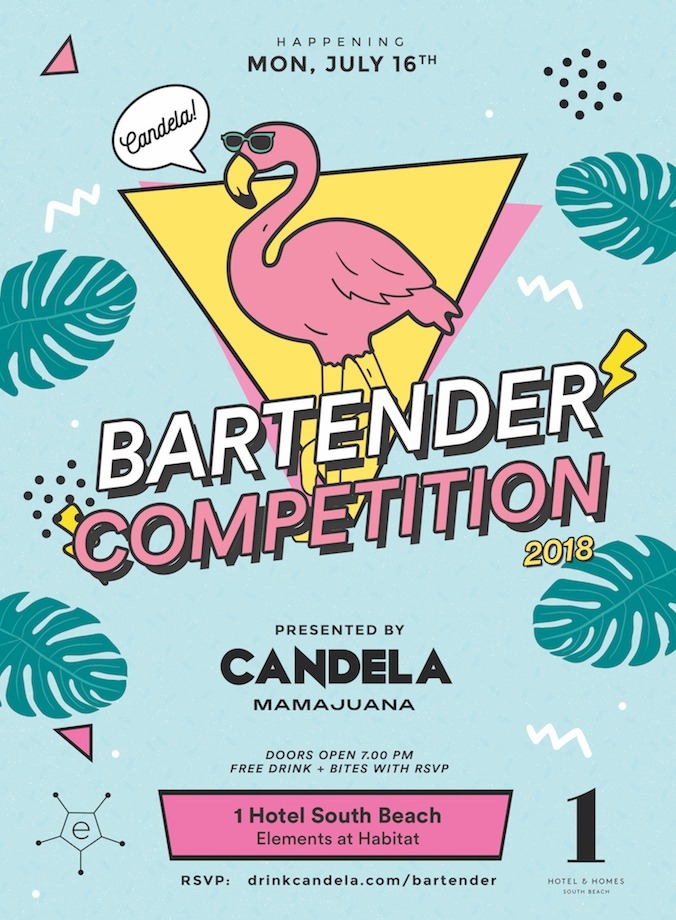 candela bartender competition 1 hotel south beach 2018 flyer