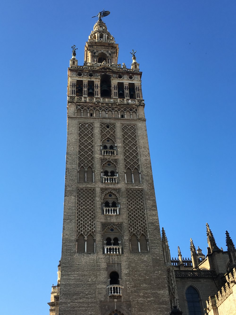 Towering Giralda...and that blue, blue sky