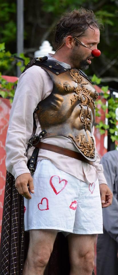 Costard,  Loves Labours Lost , Saratoga Shakespeare Company (Photo Credit: Joel Botwick)
