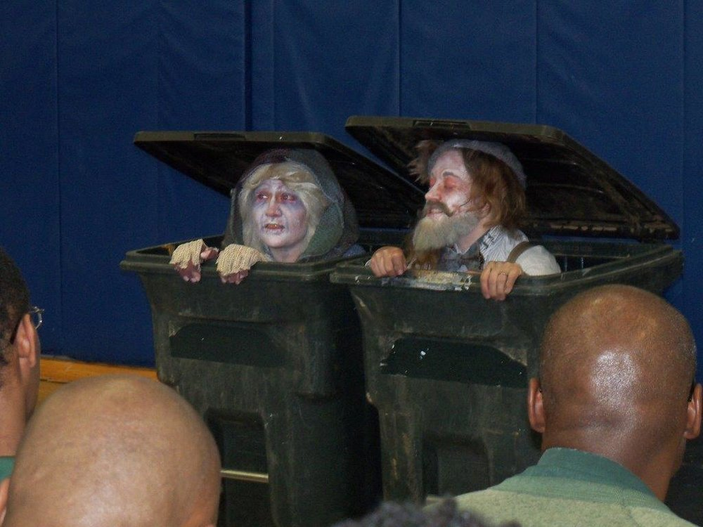 Actors Emily DiLorenzo and Bridgette Klein perform Endgame for inmates at Greene Correctional Facility.