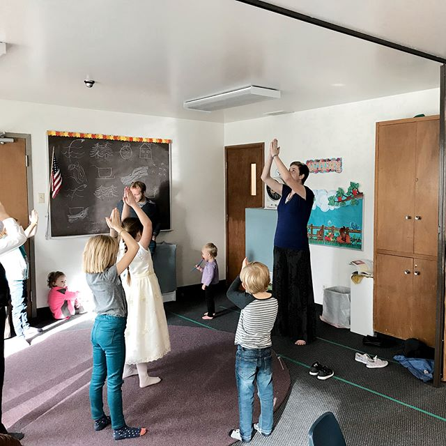 The kids learned about inner peace and Christ's Mission while doing yoga today during Sunday School. They had a great time and are looking forward to doing it again!🌀