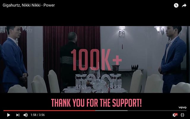 This is a huge milestone for me, maybe not so much for others, but I've worked my tail off to get this record where it's at.  100k views on my single #Power.  It's been almost 2 years since the release.  Thank you to everyone involved in this project and thank you for the support! #AllDreamsGood