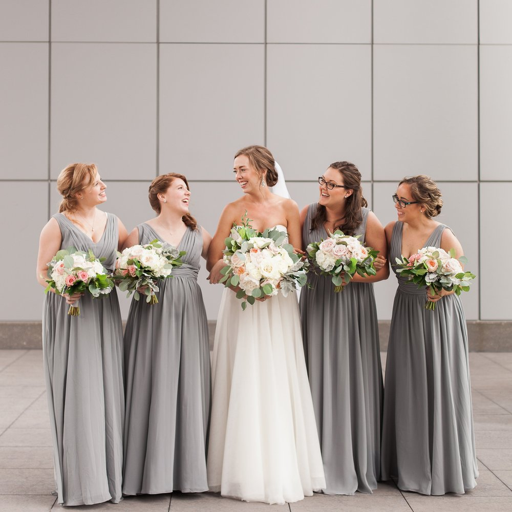 Let's Bee Together   Downtown Navy, Grey & Blush Wedding - KC, MO