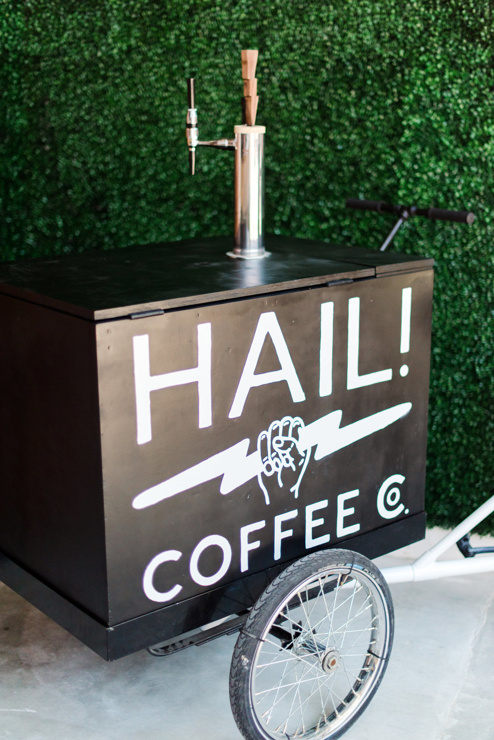 Hail Coffee Co. - Three words. COFFEE. ON. TAP. If you haven't tried Nitro Coffee yet (or, hellooo, their new Nitro Latte) then get your booty over to your email and contact them now. They have the cutest cart on a BIKE and are sure to lift the spirits of any wedding/bridal shower/baby shower/bachelorette party/random party guest.