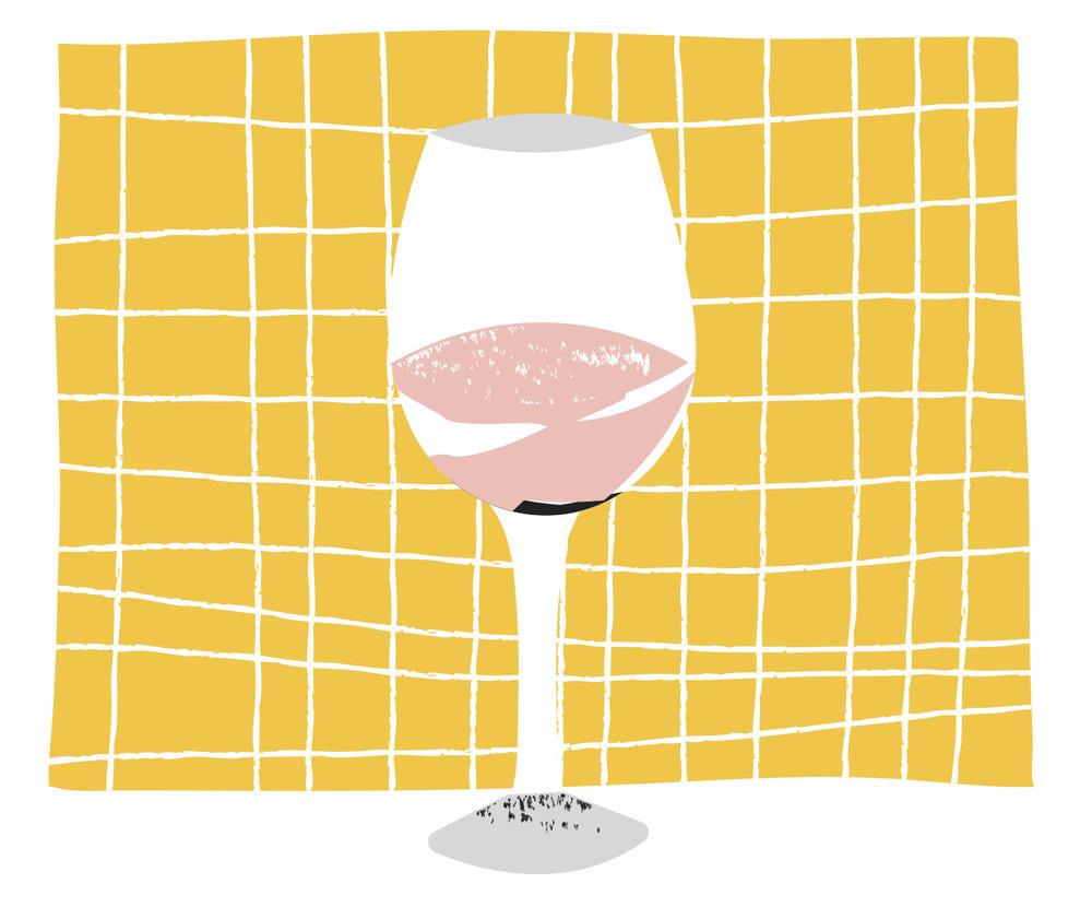 vino-rosado-ilustración-dibujo-copa