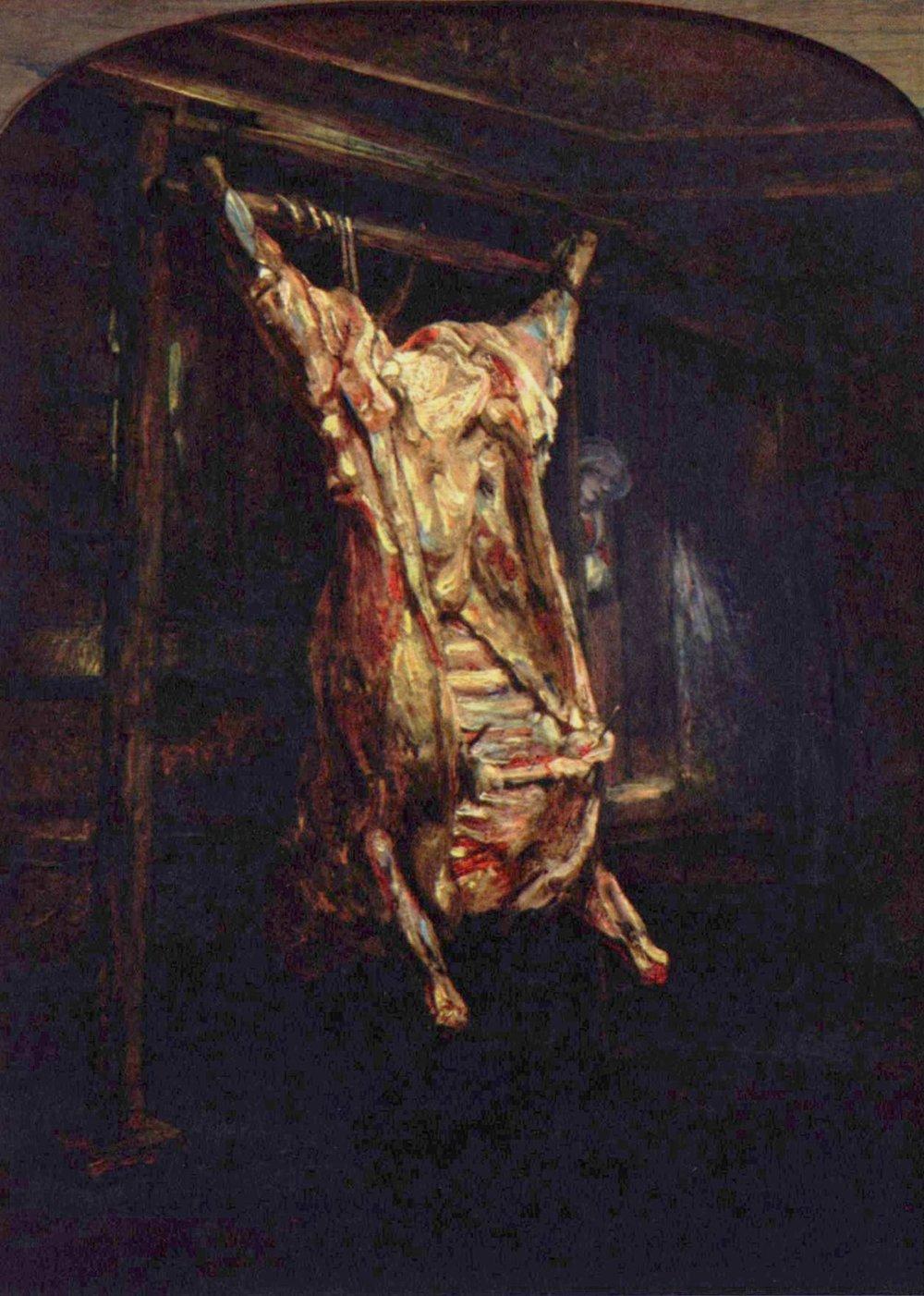 carnicería-carne-arte-rembrandt-buey-pintura-naturaleza-muerta