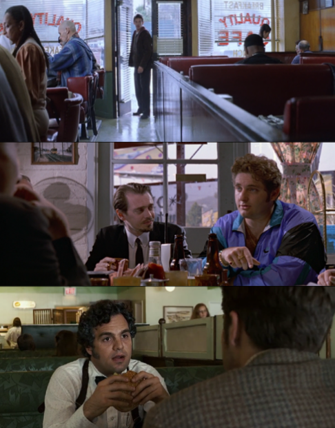 En orden: Día de entrenamiento, Antoine Fuqua, 2001/ Perros de reserva, Quentin Tarantino 1992/ Zodiac, David Fincher, 2007.