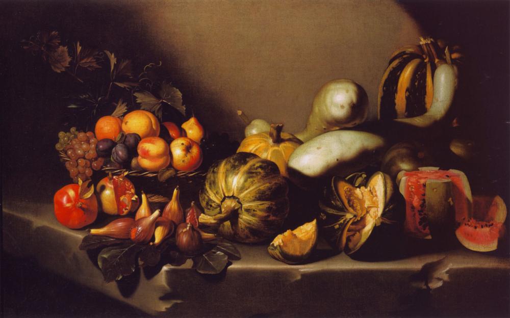 Caravaggio: Naturaleza muerta con fruta (ca. 1605)
