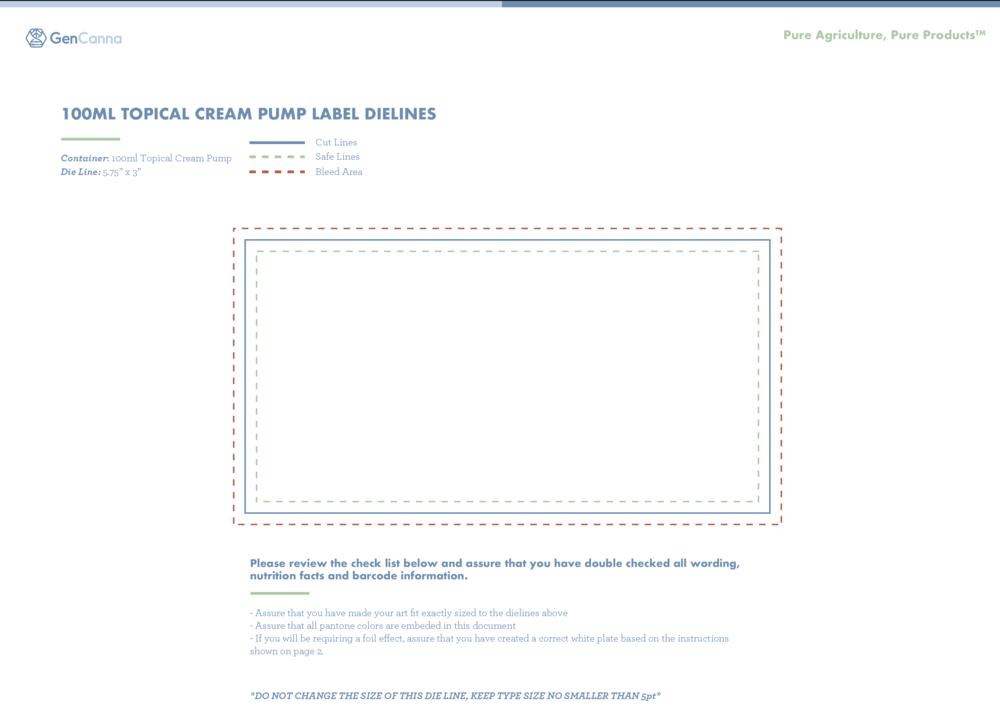 100ml Topical Cream Pump -